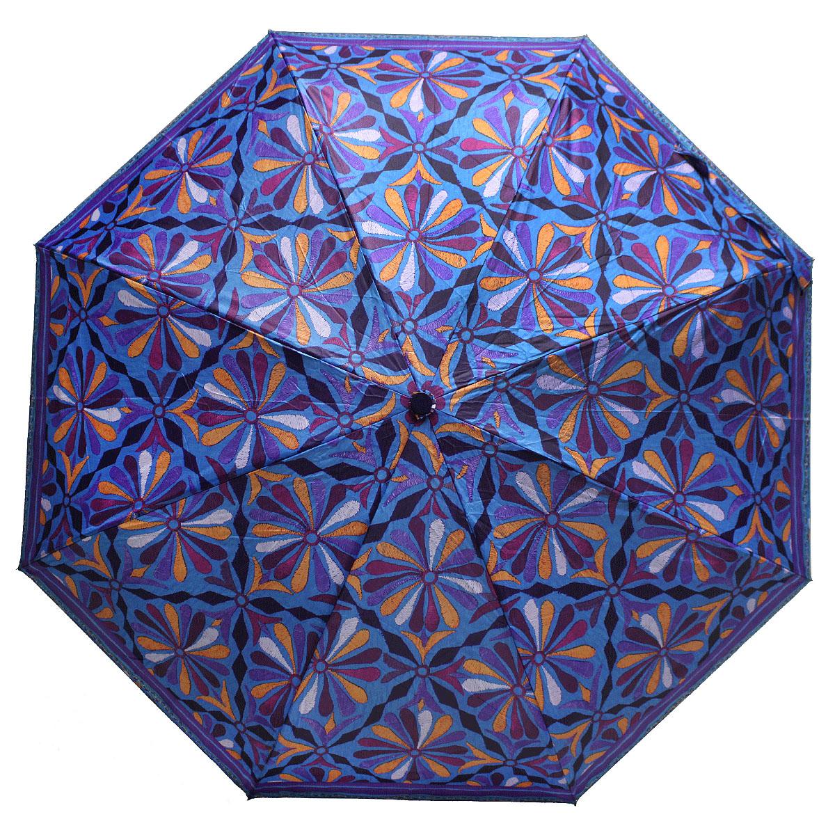 Зонт женский Bisetti, цвет: синий. 35167-3SCPA390Стильный зонт автомат испанского производителя Bisetti даже в ненастную погоду позволит вам оставаться элегантной. В производстве зонтов Bisetti используются современные материалы, что делает зонты легкими, но в то же время крепкими.Каркас зонта включает 7 спиц. Стержень изготовлен из стали, купол выполнен из прочного полиэстера.Зонт является механическим: купол открывается и закрывается вручную до характерного щелчка.