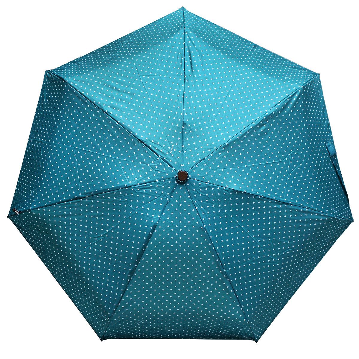 Зонт женский Bisetti, цвет: бирюзовый. 3598-4CX1516-50-10Стильный зонт автомат испанского производителя Bisetti даже в ненастную погоду позволит вам оставаться элегантной. В производстве зонтов Bisetti используются современные материалы, что делает зонты легкими, но в то же время крепкими.Каркас зонта включает 7 спиц. Стержень изготовлен из стали, купол выполнен из прочного полиэстера.Зонт является механическим: купол открывается и закрывается вручную до характерного щелчка.
