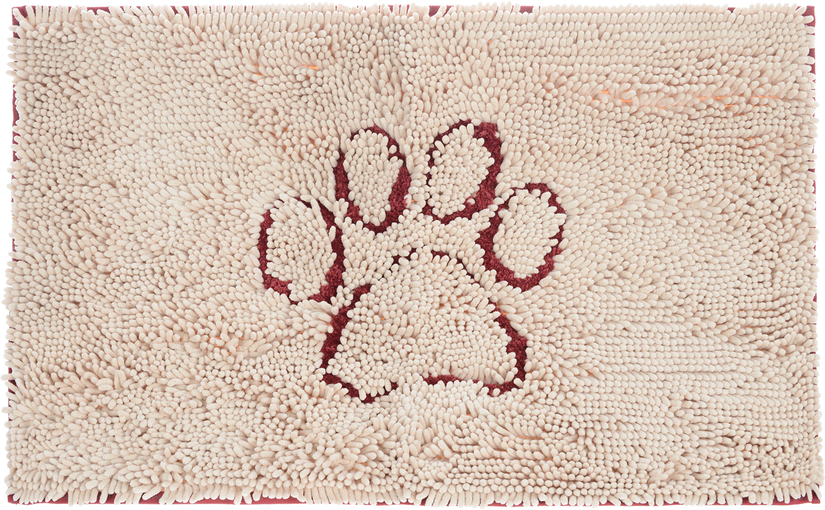 Коврик для собак Dog Gone Smart Doormat, супервпитывающий, цвет: бежевый, красный, 79 х 51 см92000056Коврик для собак Dog Gone Smart Doormat впитывает воду и грязь в 15 раз больше своего веса. Пол остается чистым и сухим. Оптимальная плотность микрофибры позволяет абсорбировать лучше, чем любому другому коврику. Супер фиксирующая подложка на обратной стороне изделия помогает удерживать коврик на одном месте.
