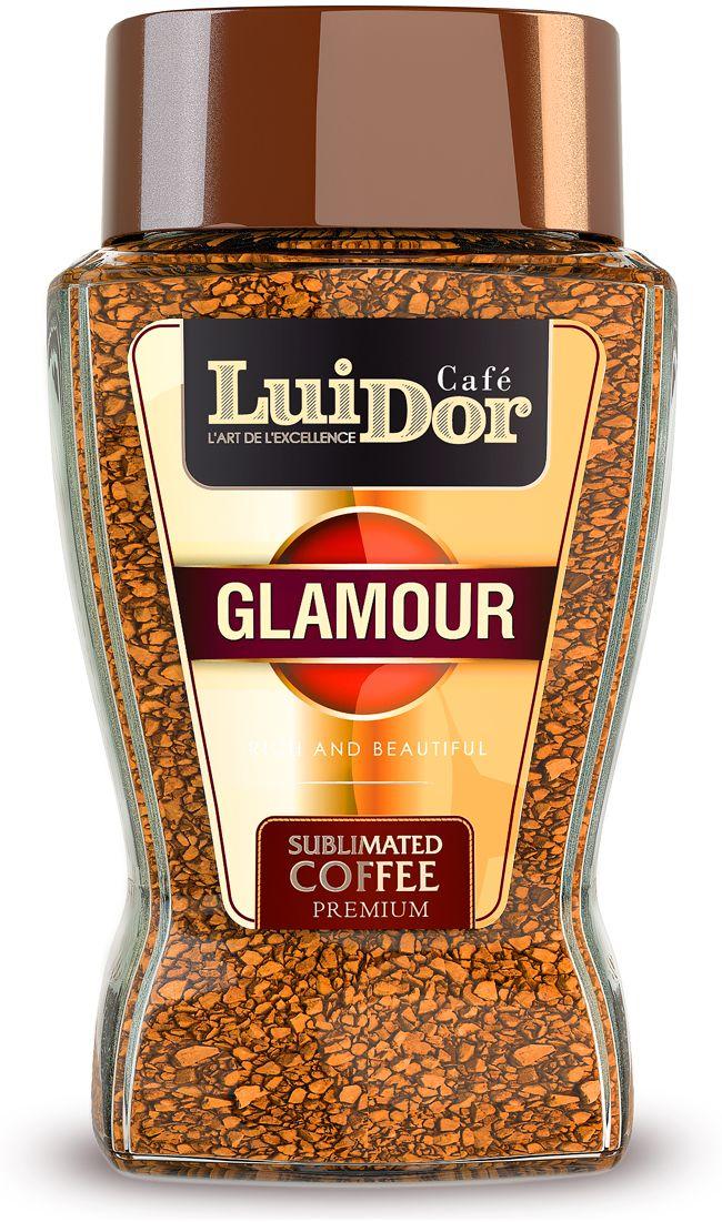 Luidor Glamour кофе растворимый сублимированный, 95 г0120710Кофе LUIDOR Glamour - это композиция селективных сортов арабики из Танзании с добавлением робусты из Доминиканы.