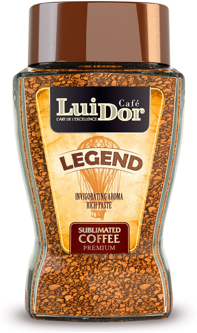 Luidor Legend кофе растворимый сублимированный, 95 г0120710Кофе LUIDOR Legend - оригинальное сочетание арабики из Гватемалы с добавлением робусты из Индонезии.