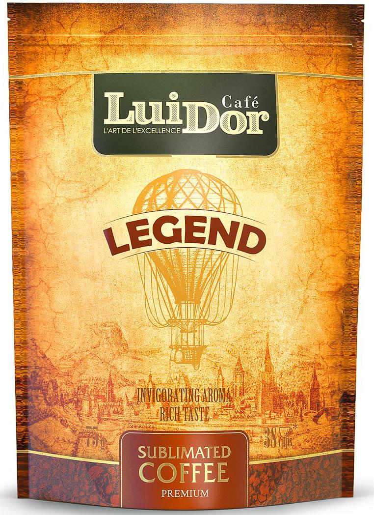 Luidor Legend кофе растворимый сублимированный, 75 г0120710Кофе LUIDOR Legend - оригинальное сочетание арабики из Гватемалы с добавлением робусты из Индонезии.