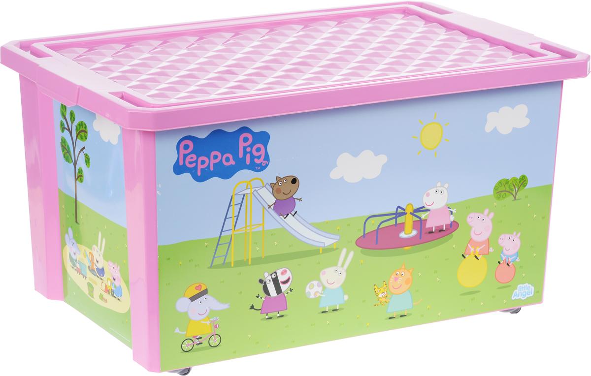 Little Angel Детский ящик для хранения игрушек X-BOX Свинка Пеппа 57 л цвет розовый