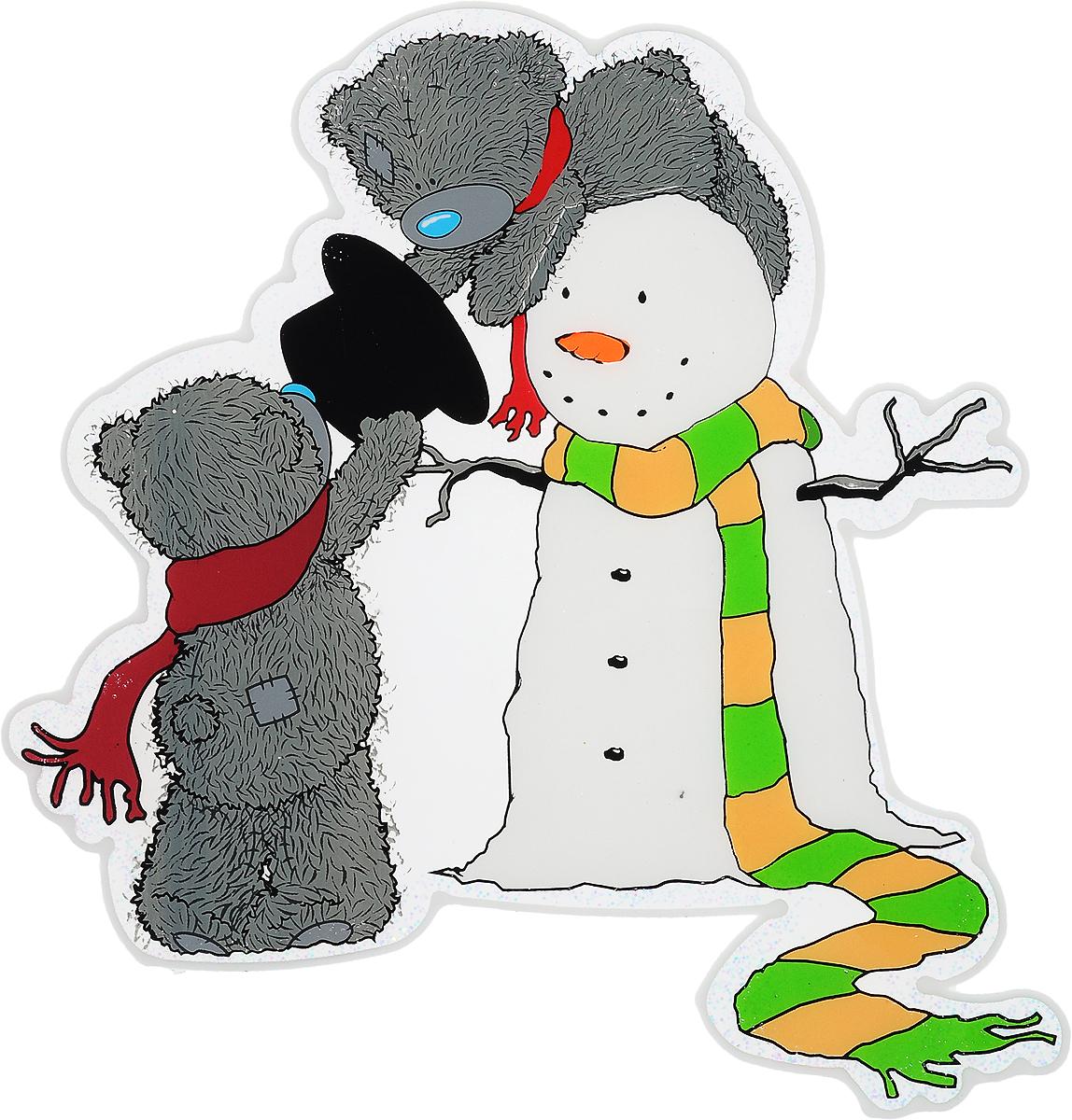 Новогоднее оконное украшение Winter Wings Me To You, 24,5 х 25,5 смDP-C30-075Новогоднее оконное украшение Winter Wings Me To You выполнено из ПВХ в виде медвежат Тедди и снеговика.С помощью гелевой наклейки Winter Wings Me To You можно составлять на стекле целые зимние сюжеты, которые будут радовать глаз, и поднимать настроение в праздничные дни! Так же Вы можете преподнести этот сувенир в качестве мини-презента коллегам, близким и друзьям с пожеланиями счастливого Нового Года!