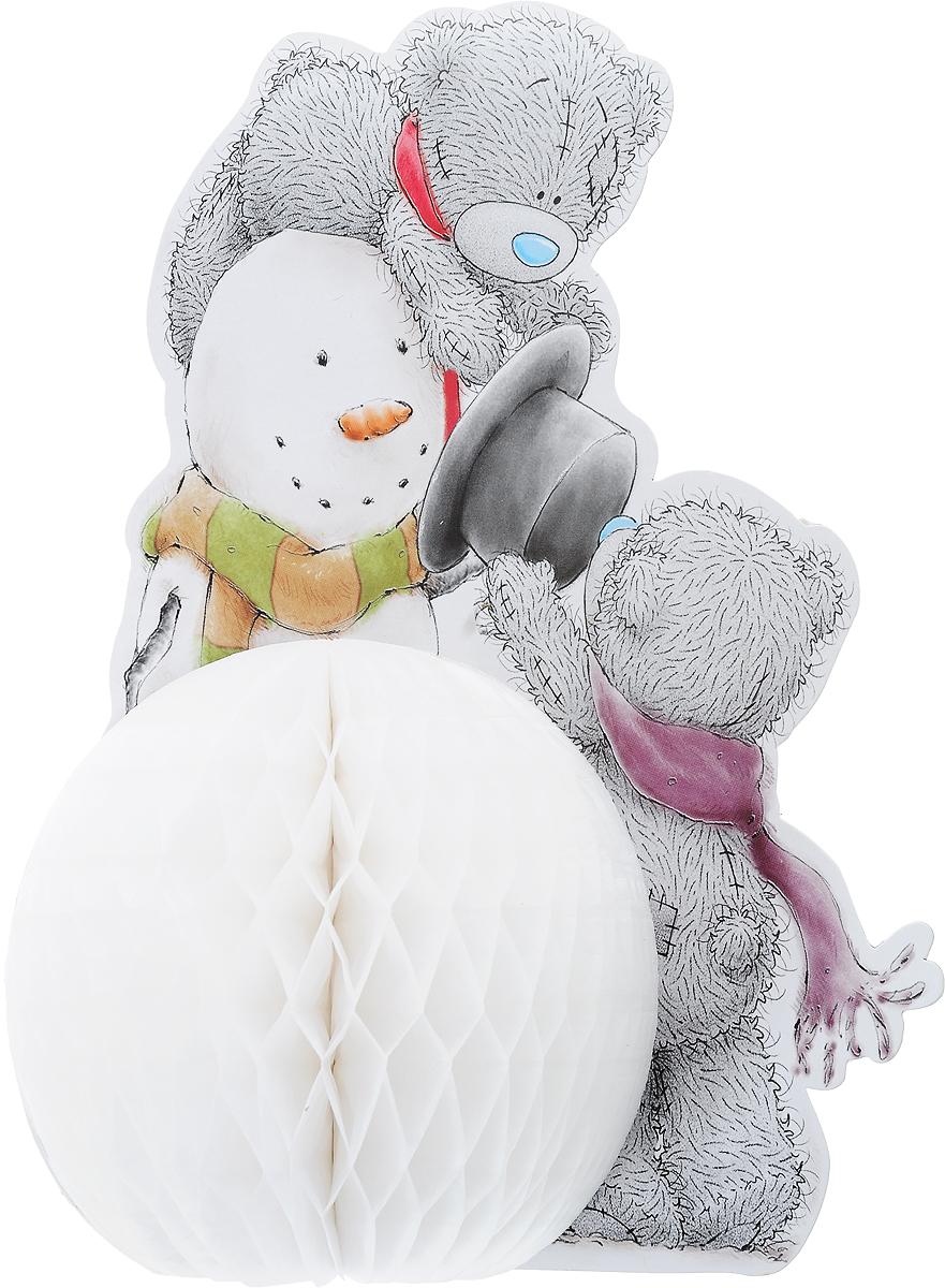 Украшение новогоднее Winter Wings Me To You. Мишка Тедди, высота 30 см42621Новогоднее украшение Magic Time Me To You. Мишка Тедди прекрасно подойдет для праздничного декора вашего дома. Изделие выполнено из бумаги.Такое оригинальное украшение оформит интерьер вашего дома или офиса в преддверии Нового года. Оригинальный дизайн и красочное исполнение создадут праздничное настроение. Кроме того, это отличный вариант подарка для ваших близких и друзей.В комплект входит скребка для соединения объемной части украшения.Диаметр снеговика: 15 см