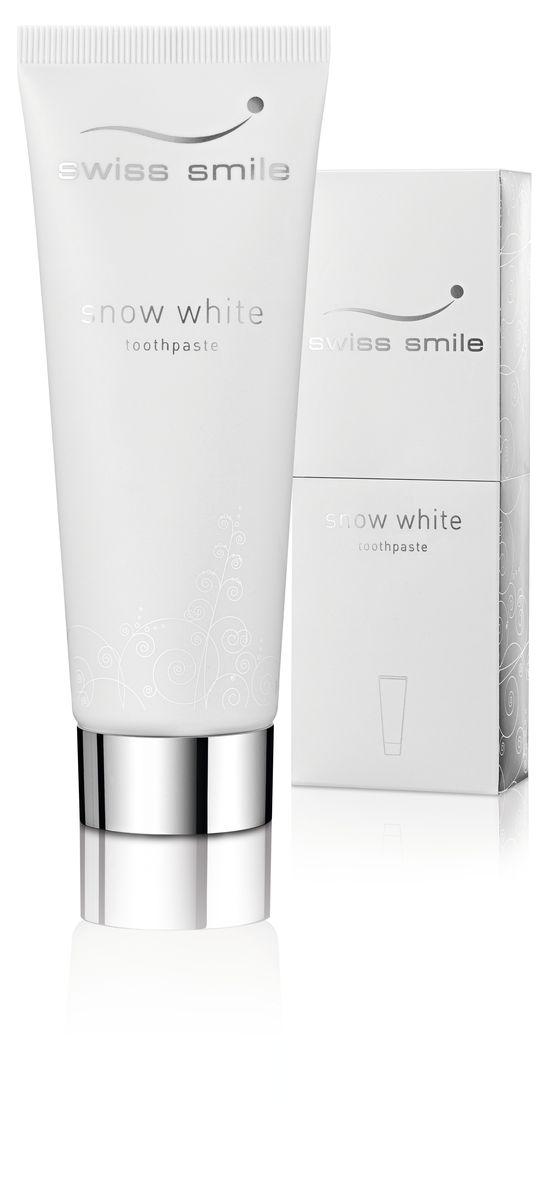 Swiss Smile Отбеливающая зубная паста Snow White, 75 млSatin Hair 7 BR730MN1 отбеливающая зубная паста 75 мл, с инструкцией, оригинальная упаковка