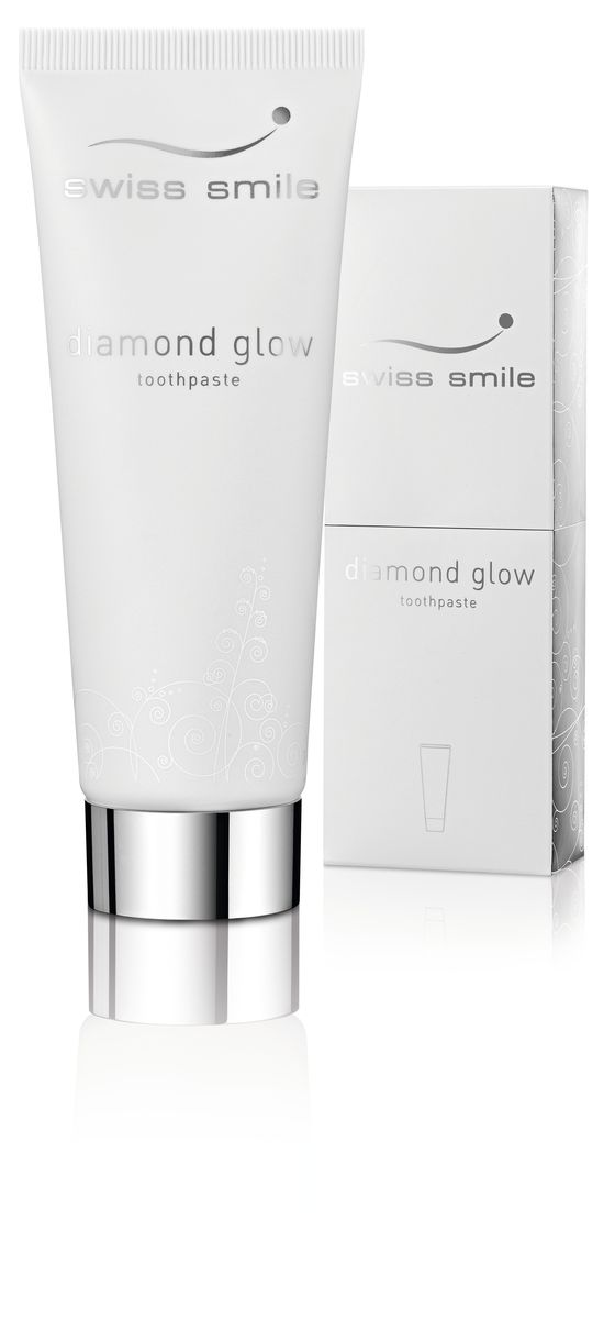 Swiss Smile Отбеливающая зубная паста Diamond Glow Brightening, 75 млCF5512F41 отбеливающая зубная паста 75 мл, с инструкцией, оригинальная упаковка