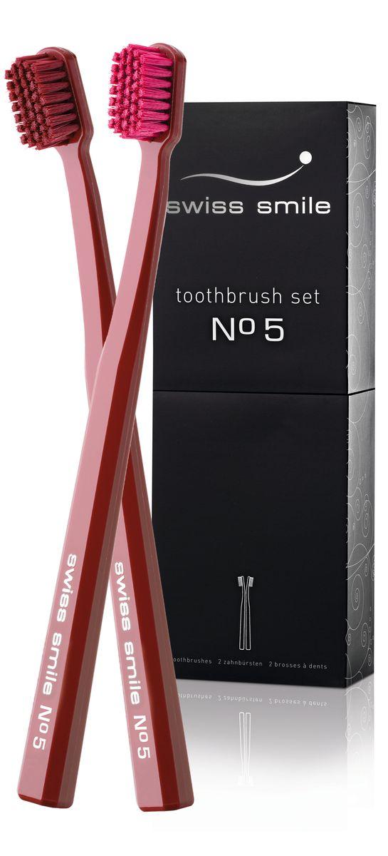 Swiss Smile Набор зубных щеток №5MP59.4D2 мягкие зубные щётки (цвет: Красный Лотос), с инструкцией, оригинальная упаковка.