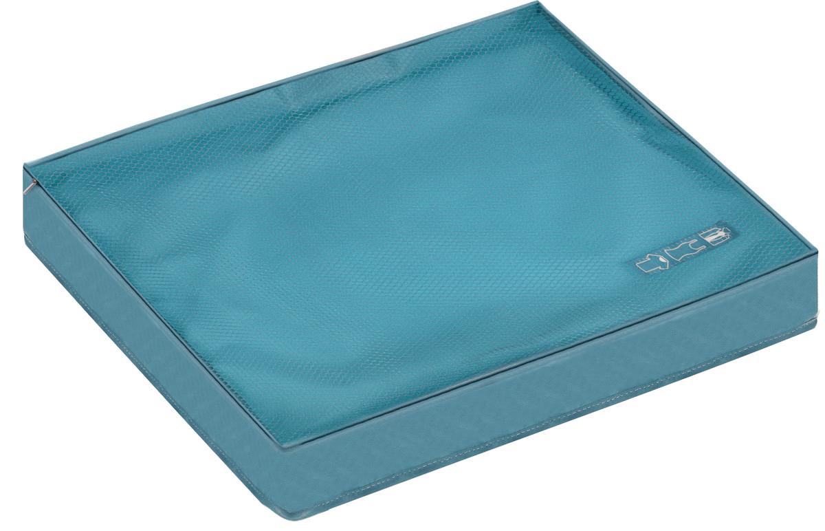 Органайзер для одежды Miolla, цвет: голубой, 45 х 35 х 8,5 смRG-D31SОрганайзер для одежды Miolla изготовлен из полиэстера с водоотталкивающей поверхностью. Изделие сверху имеет сетку, благодаря чему происходит естественная циркуляция воздуха. Предназначен для хранения легкой одежды - маек, футболок, рубашек и кофточек. Органайзер закрывается на молнию по всему периметру. Незаменимый аксессуар для путешествий, переездов и домашнего хранения.