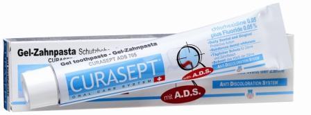 Curaden ADS 705 Паста зубная гелеобразная, 0,05% хлоргексидина (75 мл)5010777139655Оказывает сильное антибактериальное действие. Снижает образование зубного налета. Рекомендуется для пациентов с ортопедическими конструкциями, а также пациентам, страдающим кариесом. Система АДС препятствует окрашиванию зубной эмали и слизистой, не вызывает раздражения, не изменяет вкусовых ощущений. Противопоказания: Повышенная чувствительность к компонентам препарата. Аллергические реакции. Регулярно консультируйтесь с врачом о необходимости продления срока применения. Особые примечания: Не глотать. Только для наружного применения. Применять под контролем врача-стоматолога. Хранить в недоступном для детей месте. Номинальное количество: 75 мл