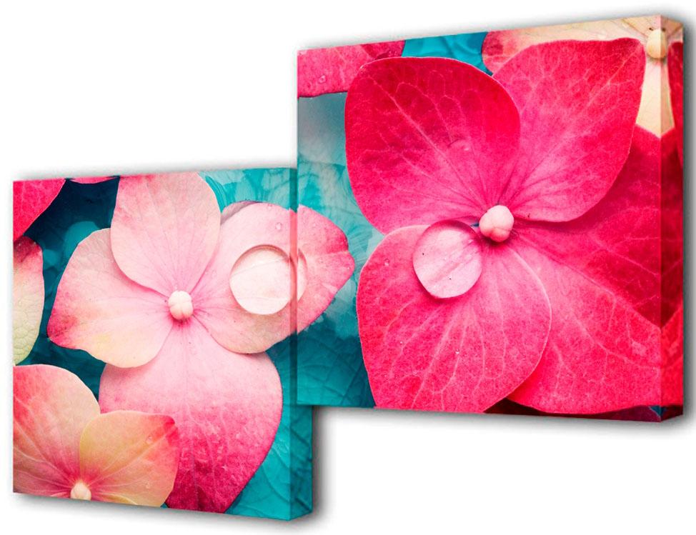 Картина модульная Toplight Цветы, 100 х 50 см. TL-M2009RG-D31SМодульная картина Toplight Цветы выполнена из синтетического полотна, подрамник из МДФ. Картина состоит из двух частей и выглядит очень аккуратно и эстетично благодаря такому способу оформления как галерейная натяжка. Подрамник исключает провисание полотна. Современные технологии, уникальное оборудование и цифровая печать, используемые в производстве, делают постер устойчивым к выцветанию и обеспечивают исключительное качество произведений. Благодаря наличию необходимых креплений в комплекте установка не займет много времени. Модульная картина - это прекрасная возможность создать яркий акцент при оформлении любого помещения. Изделие обязательно привлечет внимание и подарит немало приятных впечатлений своим обладателям. Правила ухода: можно протирать сухой, мягкой тканью. Рекомендованное расстояние между сегментами: 2 см. Толщина подрамника: 3 см.