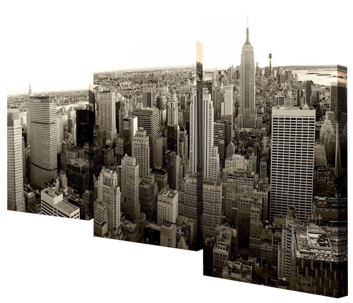 Картина модульная Toplight Город, 50 х 78 см. TL-MM102112723Модульная картина Toplight Город выполнена из синтетического полотна, подрамник из МДФ. Картина состоит из трех частей и выглядит очень аккуратно и эстетично благодаря такому способу оформления как галерейная натяжка. Подрамник исключает провисание полотна. Современные технологии, уникальное оборудование и цифровая печать, используемые в производстве, делают постер устойчивым к выцветанию и обеспечивают исключительное качество произведений. Благодаря наличию необходимых креплений в комплекте установка не займет много времени. Модульная картина - это прекрасная возможность создать яркий акцент при оформлении любого помещения. Изделие обязательно привлечет внимание и подарит немало приятных впечатлений своим обладателям. Правила ухода: можно протирать сухой, мягкой тканью. Размеры модулей: 26 х 31 см, 26 х 50 см, 26 х 40 см.Рекомендованное расстояние между сегментами: 1 см. Толщина подрамника: 2 см.