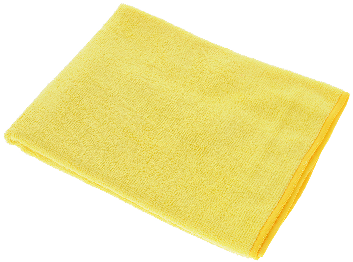 Тряпка-салфетка для пола Meule Premium, цвет: желтый, 50 х 70 см19201Тряпка-салфетка Meule Premium выполнена из высококачественной микрофибры (80% полиэстер, 20% полиамид). Мягкая тряпка-салфетка очень большой плотности и большого размера, с хорошо выраженными ворсинками, предназначена для мытья любых типов полов. Идеально впитывает влагу, полирует поверхность, удаляет загрязнения и пыль. Легко стирается и долговечна в использовании.