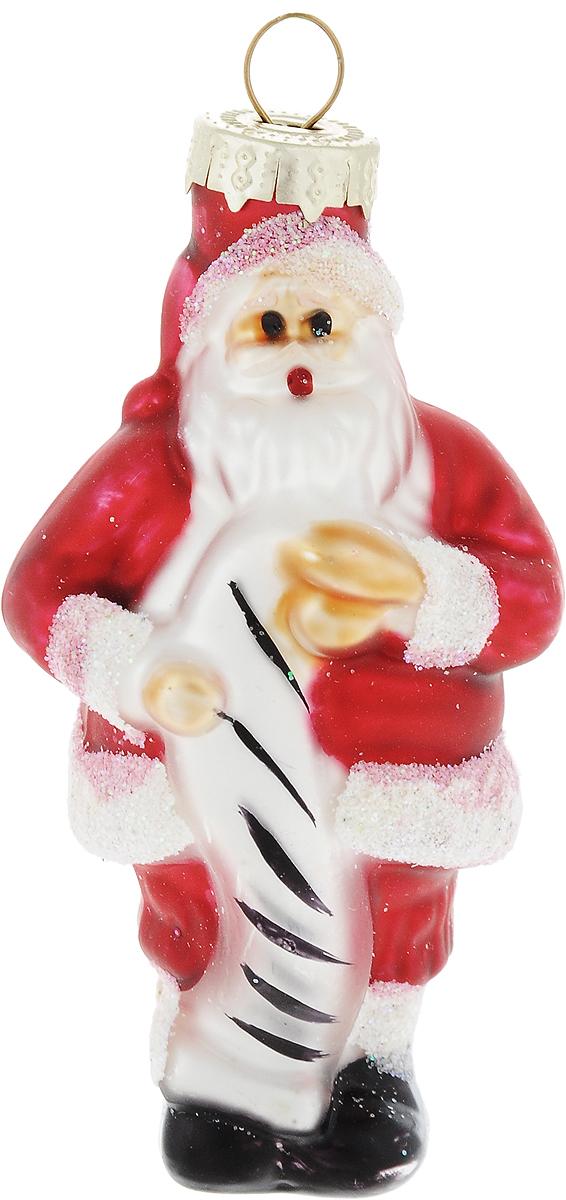 Украшение новогоднее подвесное Winter Wings Дед Мороз с поздравлением, высота 8,5 смNLED-454-9W-BKНовогоднее украшение Winter Wings Дед Мороз с поздравлением отлично подойдет для декорации вашего дома и новогодней ели. Изделие, выполненное из стекла, декорировано блестками.Елочная игрушка - символ Нового года. Она несет в себе волшебство и красоту праздника. Создайте в своем доме атмосферу веселья и радости, украшая всей семьей новогоднюю елку нарядными игрушками, которые будут из года в год накапливать теплоту воспоминаний.