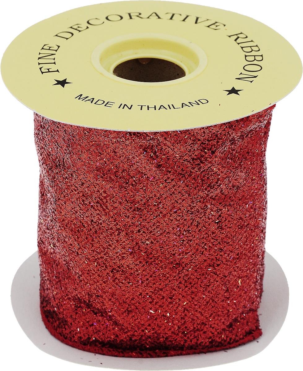 Лента новогодняя Winter Wings, цвет: красный, 10 см х 4,5 м7716368_розовыйДекоративная лента Winter Wings выполнена из капрона. В края ленты вставлена проволока, благодаря чему ее легко фиксировать. Она предназначена для оформления подарочных коробок, пакетов. Кроме того, декоративная лента с успехом применяется для художественного оформления витрин, праздничного оформления помещений, изготовления искусственных цветов. Декоративная лента украсит интерьер вашего дома к праздникам.Ширина ленты: 10 см.