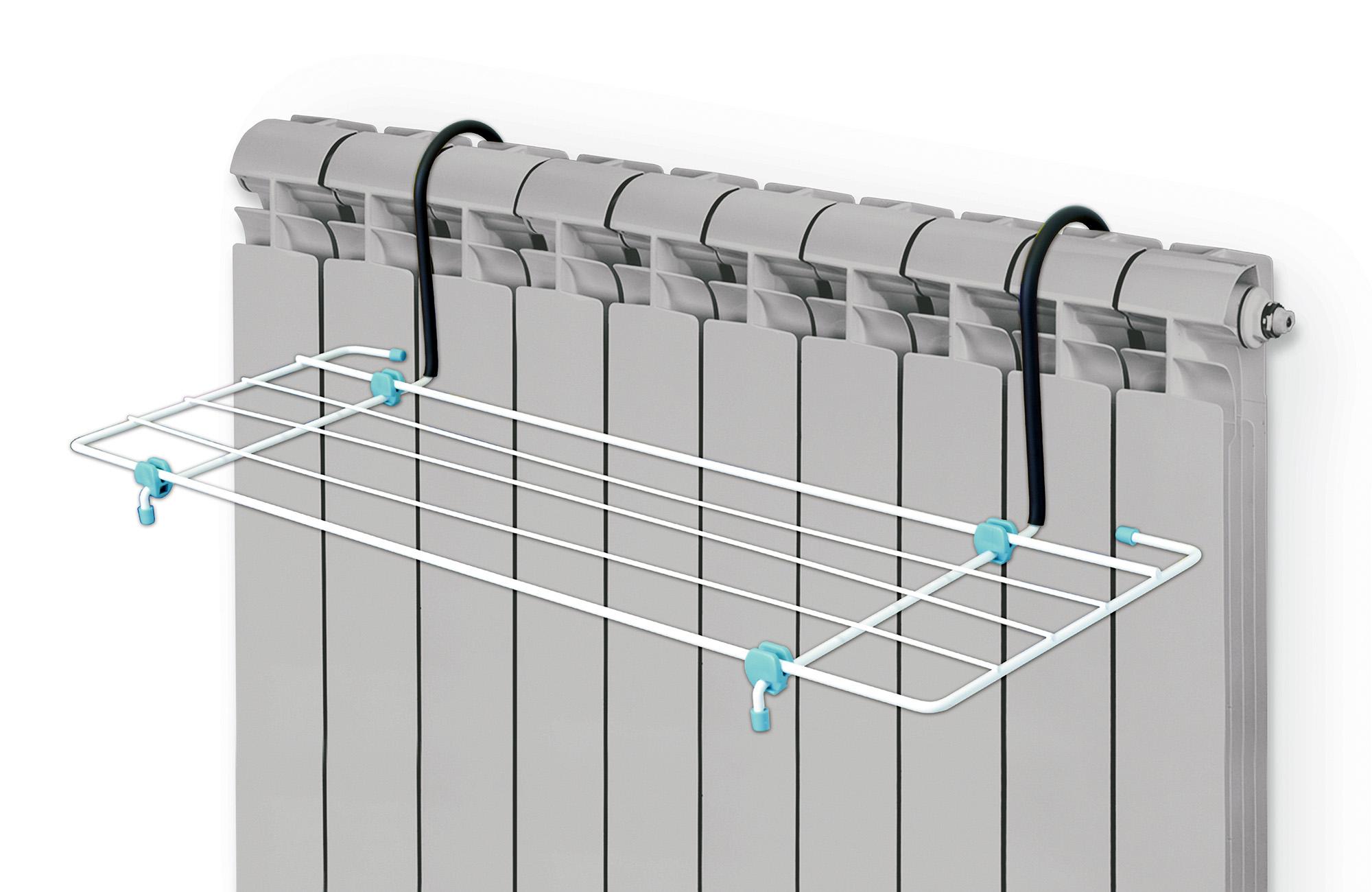 Сушилка для белья Nika, на батарею, цвет: белый, черный, бирюзовый, 45 х 23,5 смGC204/30Сушилка для белья Nika предназначена для просушки одежды и обуви. Изделие устанавливается на батареи любой конфигурации. Сушилка изготовлена из прочного и окрашенного метала с элементами пластика. Сушилка безопасна в использовании, так как все края надежно заделаны специальными заглушками. Общая длина сушильного полотна: 2.1 м.Максимальная нагрузка: 5 кг.Размер сушилки: 45 х 23,5 см.
