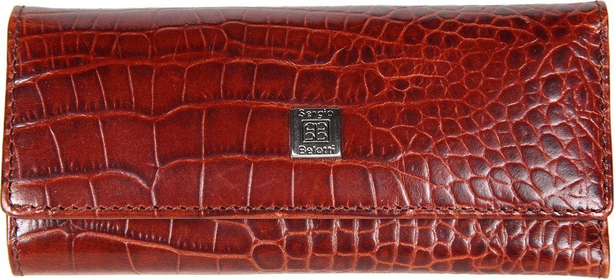 Ключница женская Sergio Belotti, цвет: коричневый. 34439890|Колье (короткие одноярусные бусы)закрывается на две магнитные кнопкивнутри шесть карабинов для ключей