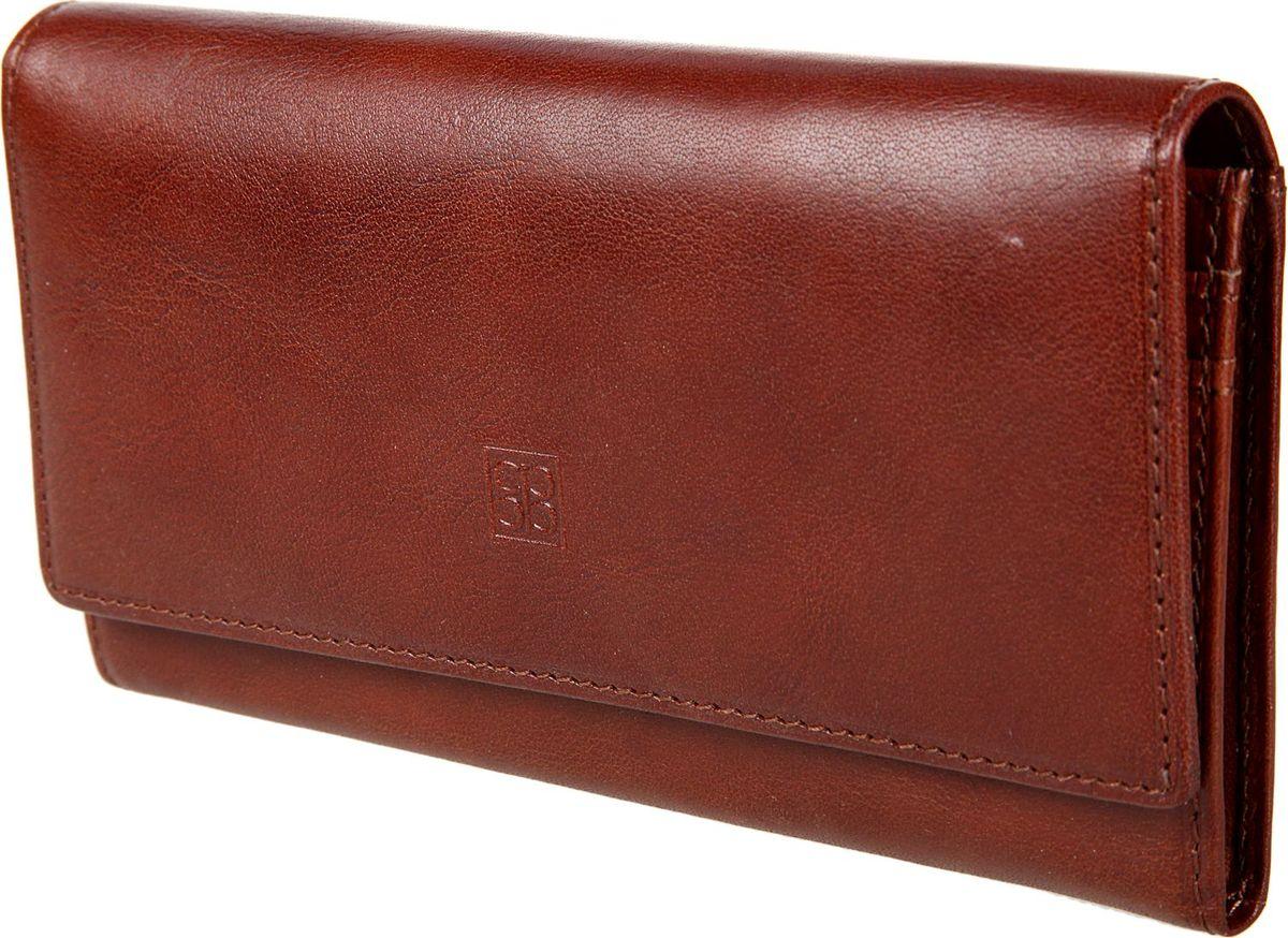 Кошелек женский Sergio Belotti, цвет: коричневый. 1075MX3024820_WM_SHL_010Кошелек женский Sergio Belotti выполнен из натуральной кожи. Модель закрывается широким клапаном на кнопке, внутри отделение для купюр, кармашек для sim-карты, три кармана для документов, пять кармашков для пластиковых карт, сетчатый карман для пропуска. Снаружи на задней стенке карман для мелочи на молнии и карман для документов.