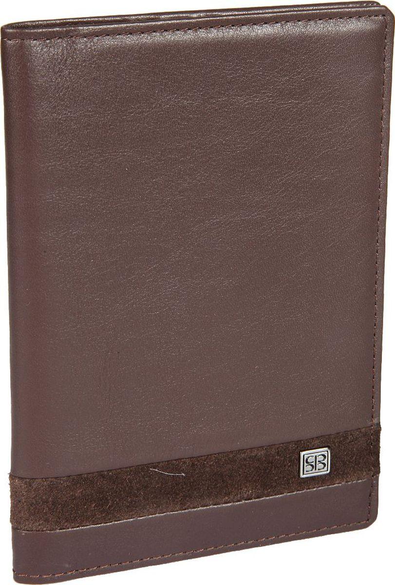 Обложка для паспорта мужская Sergio Belotti, цвет: коричневый. 159792576Обложка для паспорта мужская Sergio Belotti выполнена из натуральной кожи. Модель раскладывается пополам,внутри левое поле шириной 5 см выполнено из пластика, правое поле шириной 7 см - из натуральной кожи. Имеются три кармашка для документов и карман для sim-карты.