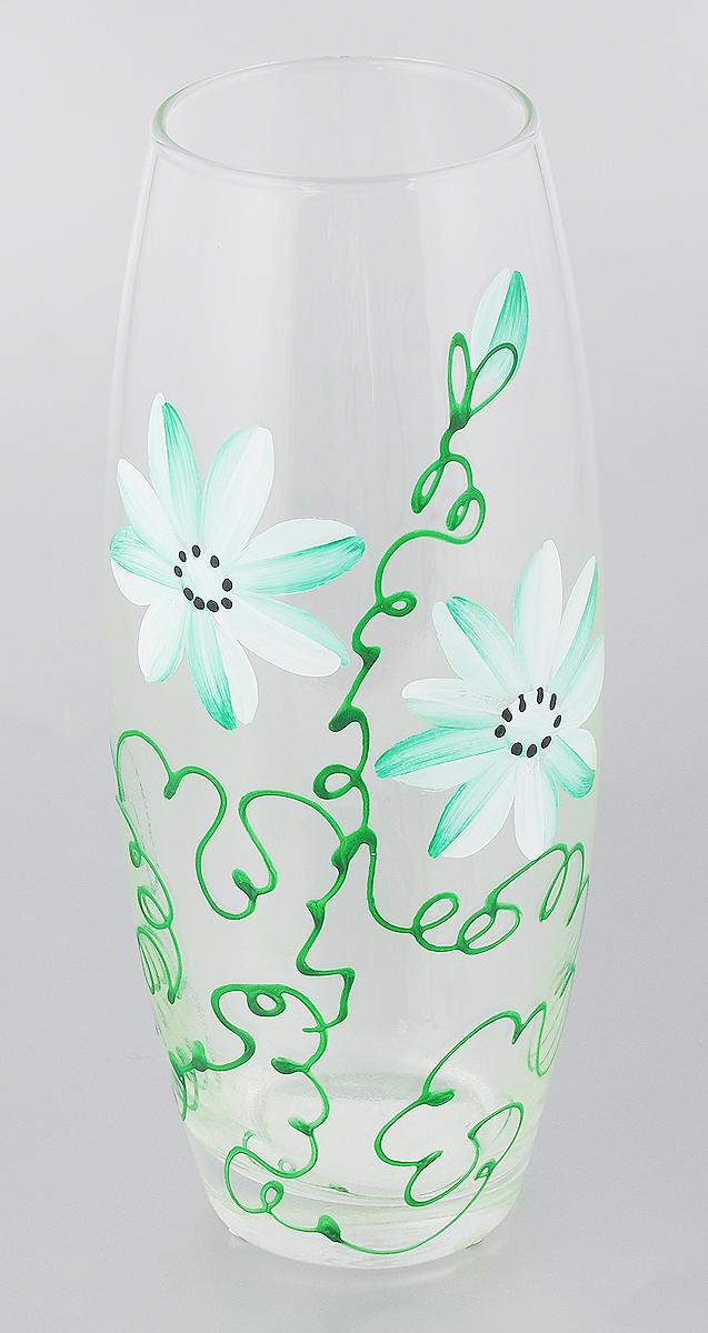 Ваза Pasabahce Ромашка, цвет: прозрачный, зеленый, высота 26 смDP-B65-11D100L-1NЭлегантная ваза Pasabahce Ромашка выполнена из высококачественного прозрачного стекла и оформлена декоративным узором.Такая ваза подойдет для декора интерьера. Кроме того - это отличный вариант подарка для ваших близких и друзей.Высота вазы: 26 см.Диаметр вазы (по верхнему краю): 8 см.Диаметр основания: 7 см.Объем вазы: 1,9 л.