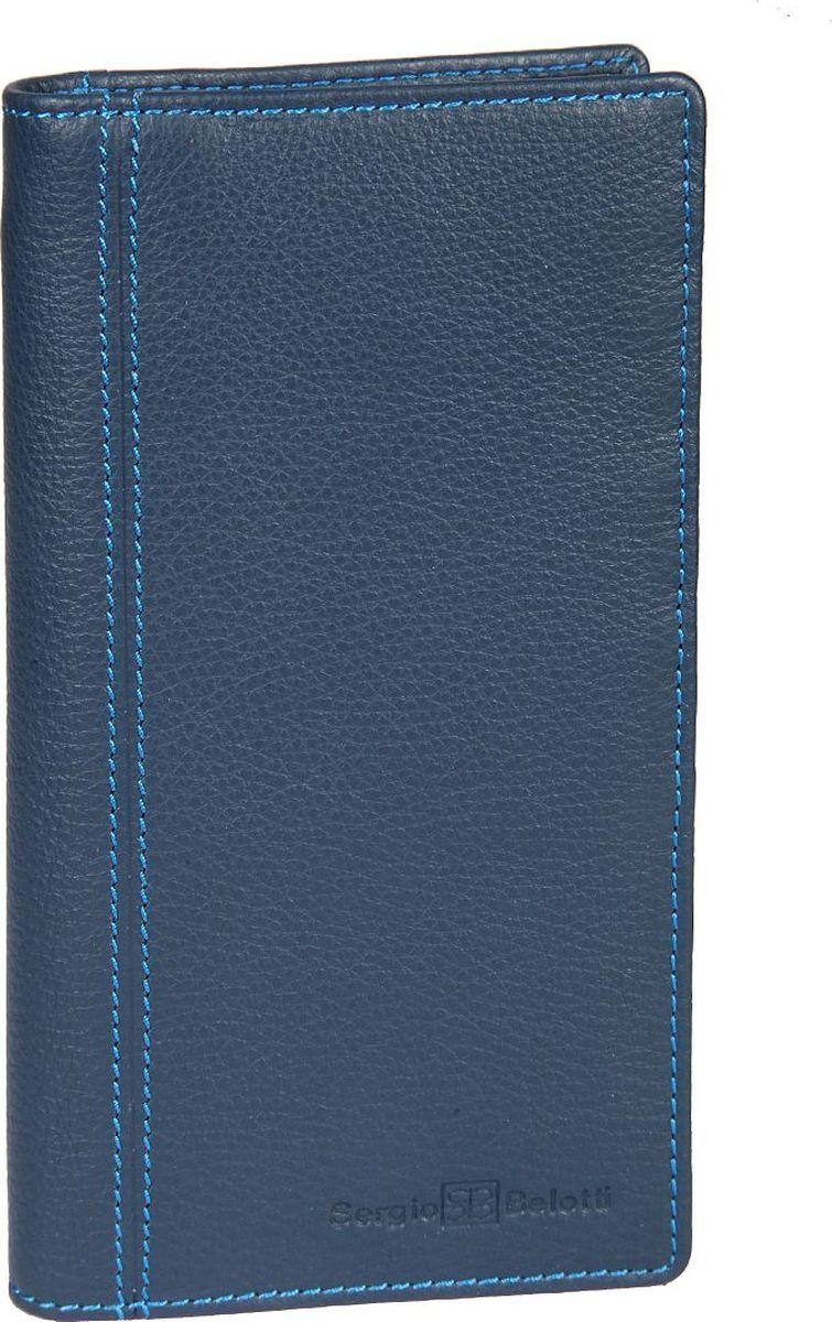 Бумажник мужской Sergio Belotti, цвет: синий. 1462MX3024820_WM_SHL_010Мужской бумажник Sergio Belotti раскладывается пополам. Внутри два отдела для купюр, два потайных кармашка, один из них на молнии, отделение для мелочи, закрывающееся клапаном на кнопке, восемь кармашков для пластиковых карт, кармашек для sim-карты.