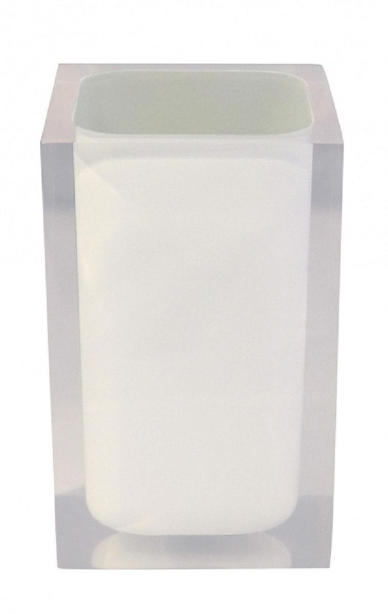 Стакан для ванной комнаты Ridder Colours, цвет: белый22280101Изделия данной серии устойчивы к ультрафиолету, т.к. изготавливаются из полирезина. Экологичный полирезин - это твердый многокомпонентный материал на основе синтетической смолы,с добавлением каменной крошки и красящих пигментов.