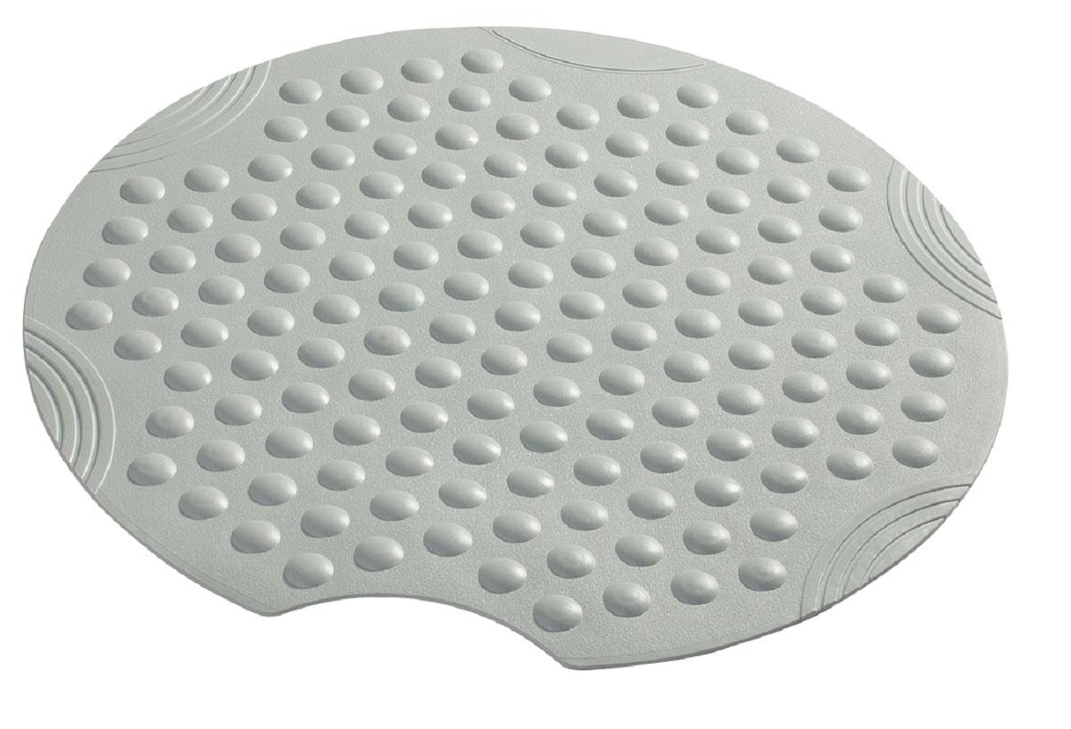 Коврик для ванной Ridder Tecno+, противоскользящий, на присосках, цвет: серый, диаметр 55 смNLED-441-7W-SВысококачественные немецкие коврики Tecno+ созданы для вашего удобства. Состав и свойства противоскользящих ковриков: синтетический каучук с защитой от плесени и грибка, не содержит ПВХ. Имеются присоски для крепления. Безопасность изделия соответствует стандартам LGA (Германия).