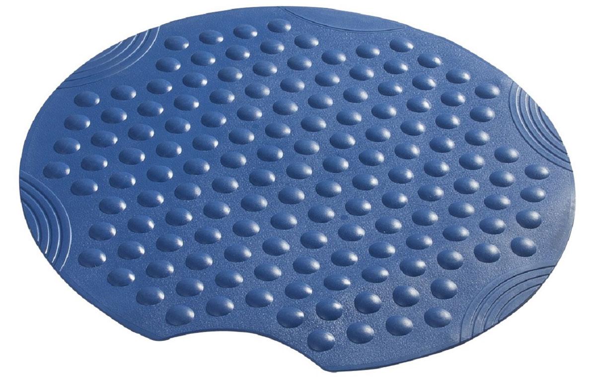 Коврик для ванной Ridder Tecno+, противоскользящий, на присосках, цвет: синий, диаметр 55 см391602Высококачественные немецкие коврики Tecno+ созданы для вашего удобства. Состав и свойства противоскользящих ковриков: синтетический каучук с защитой от плесени и грибка, не содержит ПВХ. Имеются присоски для крепления. Безопасность изделия соответствует стандартам LGA (Германия).