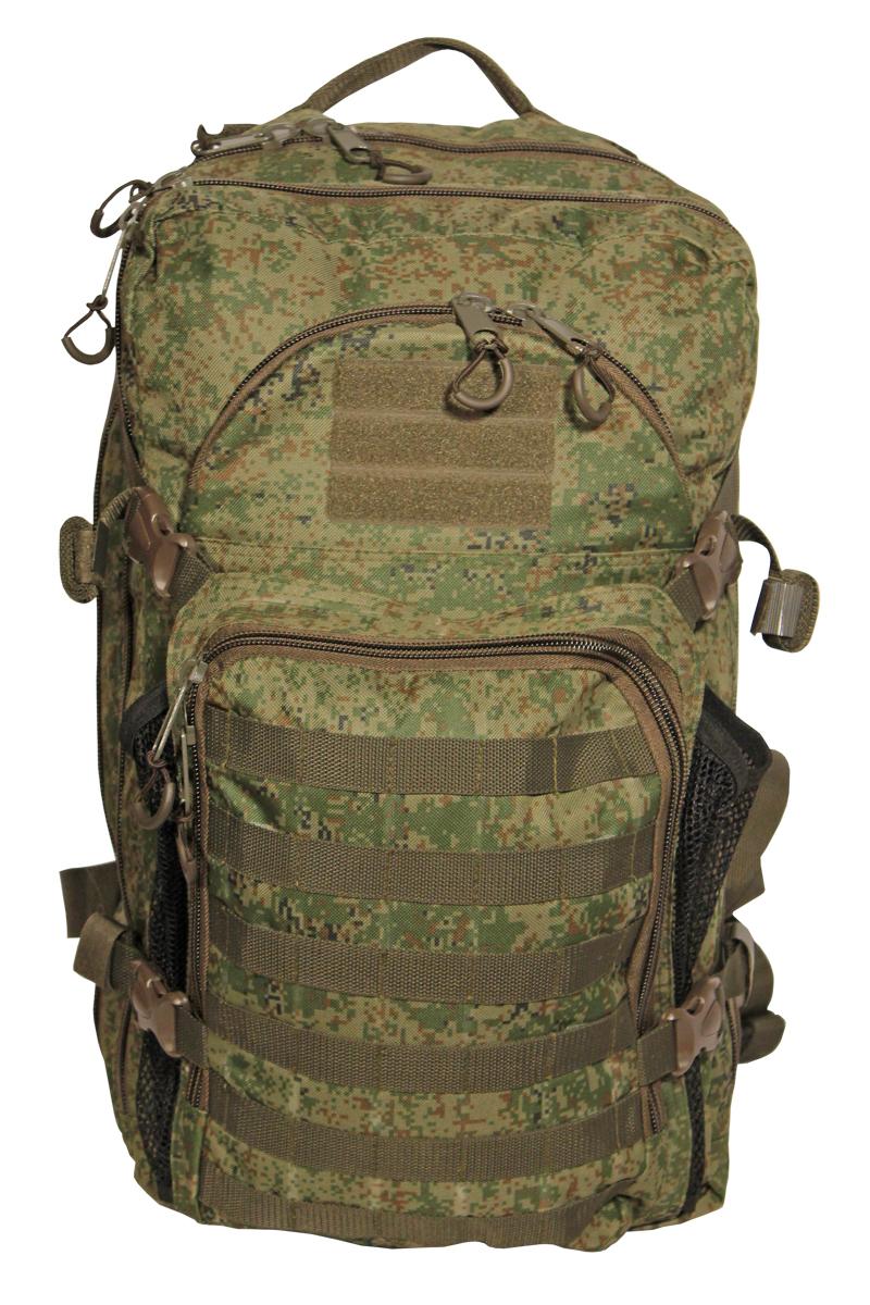 Рюкзак тактический Woodland Armada - 4, цвет: камуфляж, 45 л67743Тактический рюкзак Woodland Armada - 4 идеально подойдет для охоты и рыбалки, туристических путешествий, походов.Рюкзак изготовлен из высококачественной ткани Oxford 600 с пропиткой для защиты от проникновения влаги.Вместительность модели регулируется компрессионными боковыми ремнями на фастексах. Плотная спинка с мягкими вставками Airmesh и длина плечевых ремней обеспечивают комфорт и равномерное распределение нагрузки. Усиленная конструкция молнии и пластиковой фурнитуры обеспечит надежную эксплуатацию в самых экстремальных условиях.Особенности:- два вместительных отделения;- компрессионные утяжки по бокам и снизу;- два фронтальных отделения;- дополнительное открывающееся отделение;- поясной ремень для распределения нагрузки.Объем 45 л.Материал: полиэстер 100%.