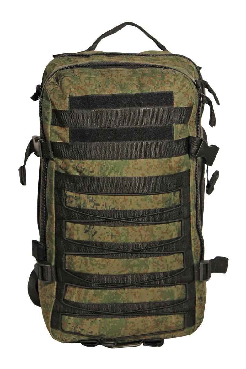 Рюкзак тактический Woodland Armada - 1, цвет: камуфляж, 20 лKOC-H19-LEDТактические рюкзаки идеально подойдут для охоты и рыбалки, туристических путешествий, походов.Рюкзаки изготовлены из высококачественной ткани Oxford 600 с пропиткой для защиты от проникновения влаги.Вместительность модели регулируется компрессионными боковыми ремнями на фастексах. Плотная спинка с мягкими вставками Airmesh и длина плечевых ремней обеспечивают комфорт и равномерное распределение нагрузки. Особенности:- два вместительных отделения- компрессионные утяжки по бокам и снизу- боковые карманы- поясной ремень для распределения нагрузки.Объем 20 л.Цвет: камуфляж цифраМатериал: полиэстер 100%
