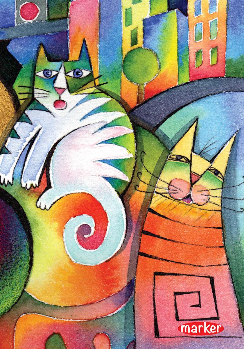 Marker Тетрадь Кот и кошка 100 листов в клетку72523WDТетрадь на спирали Marker Кот и кошка отлично подойдет для различных записей. Дизайнерская обложка выполнена из высококачественного картона. Внутренний блок состоит из 100 листов в клетку.