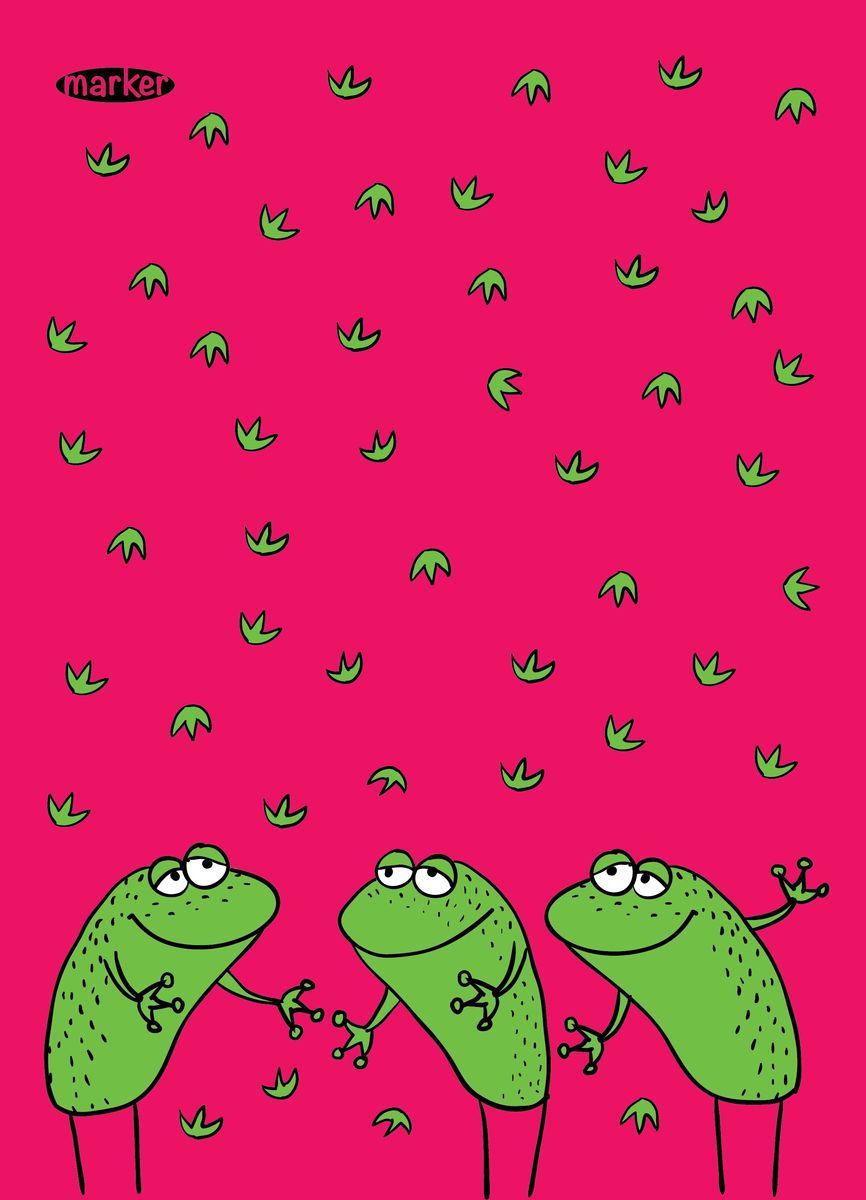 Marker Записная книжка Лягушки 40 листов в клетку0703415Записная книжка на скрепках Marker Лягушки отлично подойдет для различных записей. Дизайнерская обложка выполнена из высококачественного картона. Внутренний блок состоит из 40 листов в клетку и оформлен рисунками.