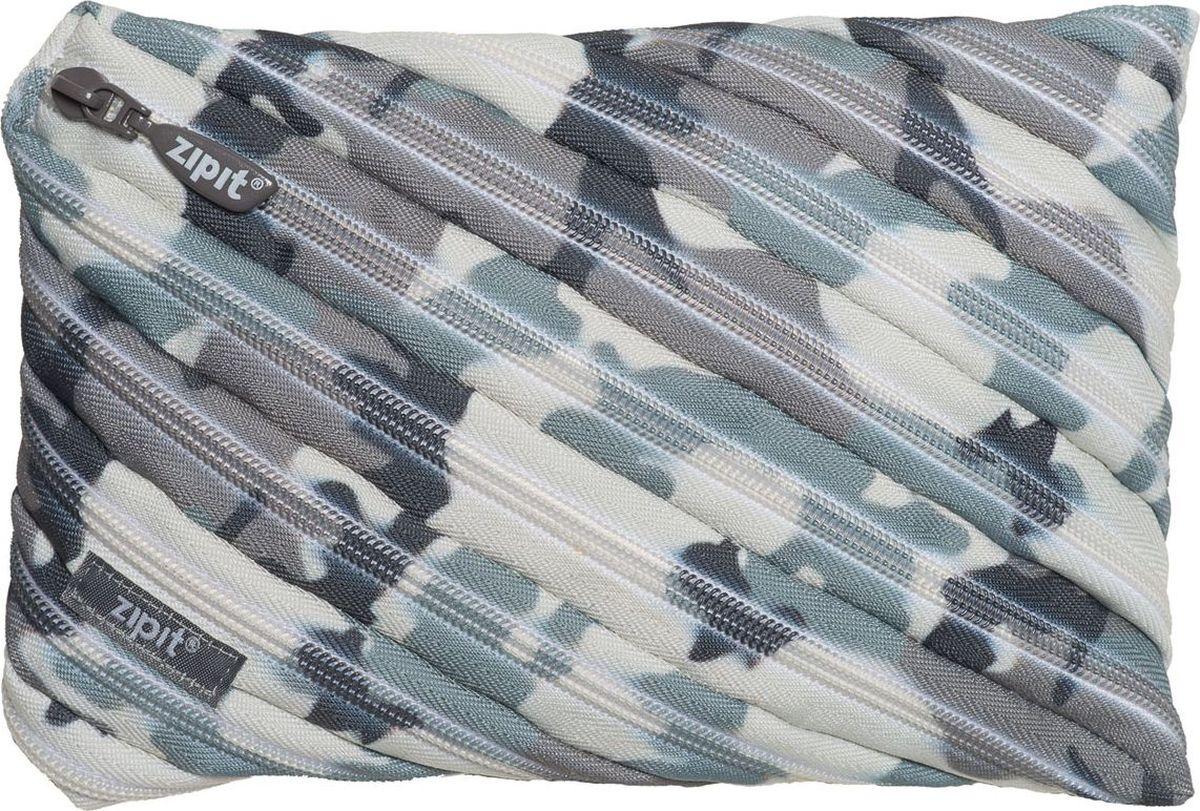 Zipit Пенал Camo Jumbo Pouch цвет серый камуфляж72523WDСтильный пенал Zipit Camo Jumbo Pouch изготовлен из одной длинной застежки-молнии и оформлен камуфляжным принтом. Он удобен для разных мелочей и пишущих принадлежностей.
