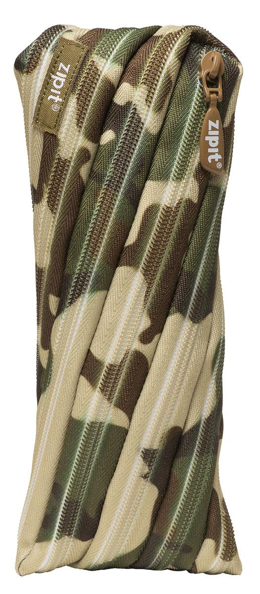 Zipit Пенал Camo Pouch цвет зеленый коричневыйZT-CG-GNСтильный пенал Zipit Camo Pouch изготовлен из одной длинной застежки-молнии и оформлен камуфляжным принтом. Он удобен для разных мелочей и пишущих принадлежностей.