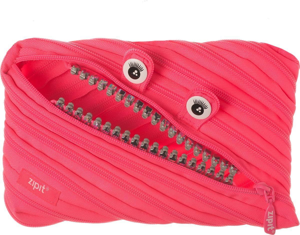 Zipit Пенал Grillz Jumbo Pouch цвет розовый72523WDНеобычный пенал Zipit Grillz Jumbo Pouch изготовлен из одной длинной застежки-молнии. Он удобен для разных мелочей и пишущих принадлежностей. Особенности пенала - зубки и глазки. Его обладатель всегда будет в хорошем настроении!