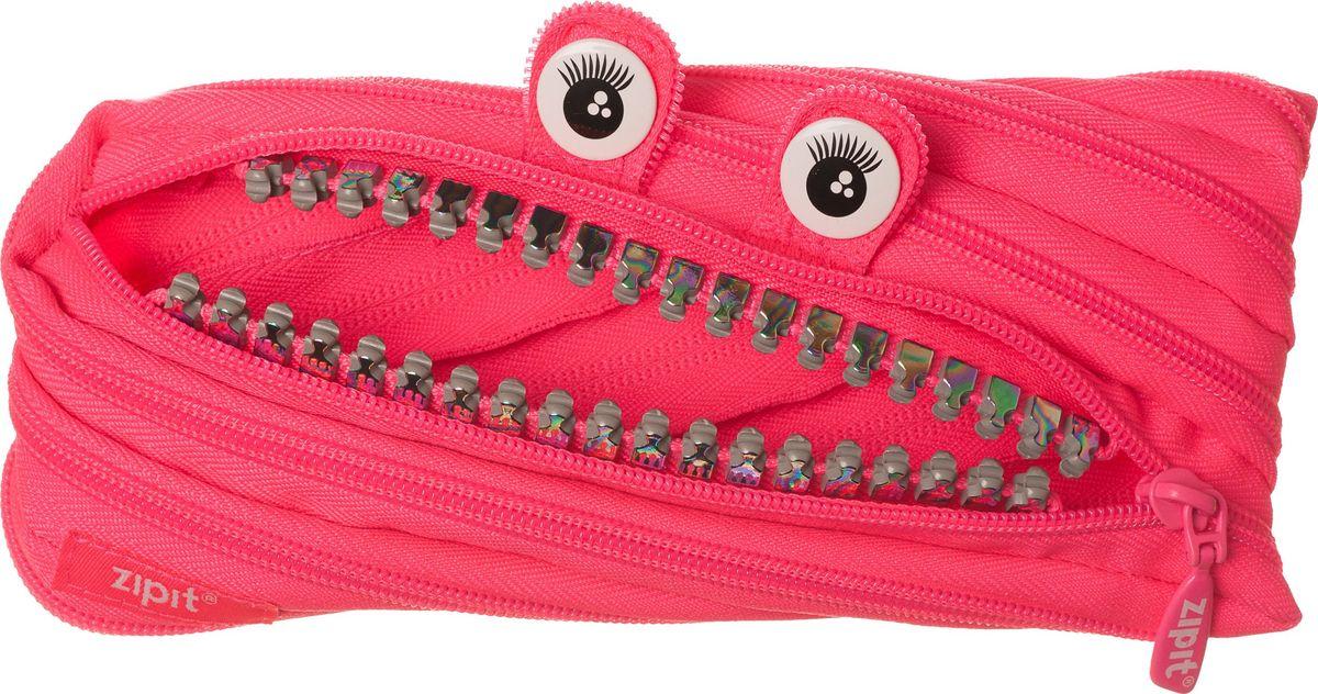 Zipit Пенал Grillz Pouch цвет розовый72523WDНеобычный пенал Zipit Grillz Pouch изготовлен из одной длинной застежки-молнии. Он удобен для разных мелочей и пишущих принадлежностей. Особенности пенала - зубки и глазки. Его обладатель всегда будет в хорошем настроении!