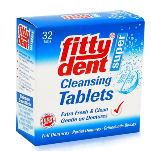 Fittydent Таблетки для очистки съемных зубных протезов, 32 штRKM-1701Таблетки для очистки съемных зубных протезов, 32 шт в картонной коробке