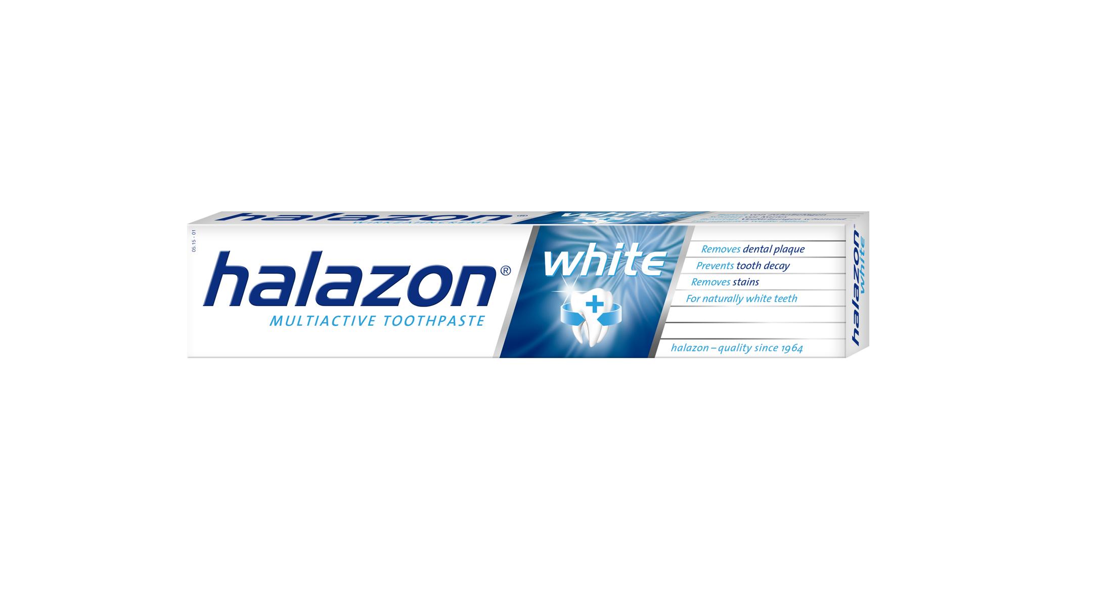 One Drop Only Отбеливающая зубная паста Halazon White для тщательного и щадящего удаления зубного налета, 75ml5010777139655Отбеливающая зубная паста Halazon White для тщательного и щадящего удаления зубного налета