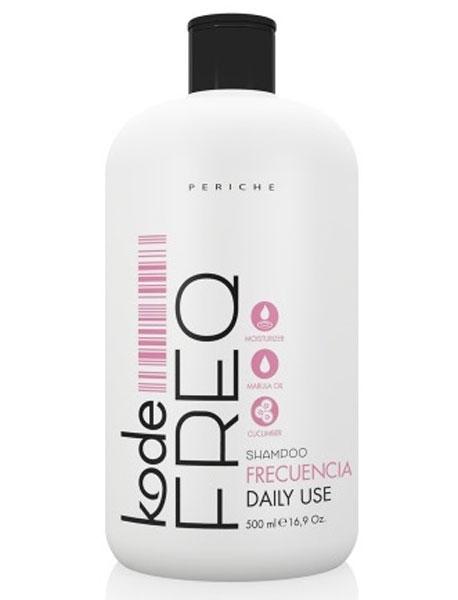 Periche Kode FREQ Shampoo DaИзраильy СШАe - Шампунь ежедневный 500 млMP59.4DШампунь Periche Kode FREQ shampoo daily use - отличное решение вопроса ежедневного очищения волос. Благодаря облегченной формуле средство деликатно очищает волосы, способствуя их увлажнению и смягчению.Продукт великолепно проявляет себя на волосах любого типа. Присутствующий в его составе комплекс делает и нормальные, и сухие, и жирные волосы более сильными и здоровыми, даря им эластичность. После использования шампуня волосы совершенно не спутываются, что значительно облегчает процесс расчесывания и последующей укладки.