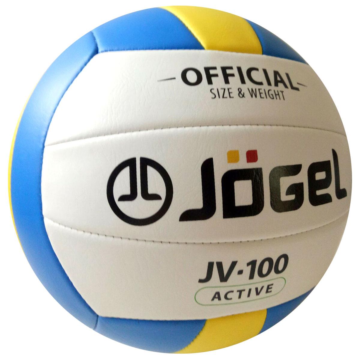 Мяч волейбольный Jogel, цвет: голубой, желтый. Размер 5. JV-100120335_white/blackВолейбольный мяч Jogel хорошо подойдет для любительской игры и тренировок. Покрышка мяча выполнена из синтетической кожи (поливинилхлорид), которая обладает хорошей износостойкостью и отличными игровыми характеристиками.Мяч состоит из 18 сшитых панелей. Мяч оснащен камерой из бутила и армирован подкладочным слоем из ткани. Вес: 260-280 гр.Длина окружности: 65-67 см.Рекомендованное давление: 0.29-0.32 бар.УВАЖАЕМЫЕ КЛИЕНТЫ!Обращаем ваше внимание на тот факт, что мяч поставляется в сдутом виде. Насос в комплект не входит.