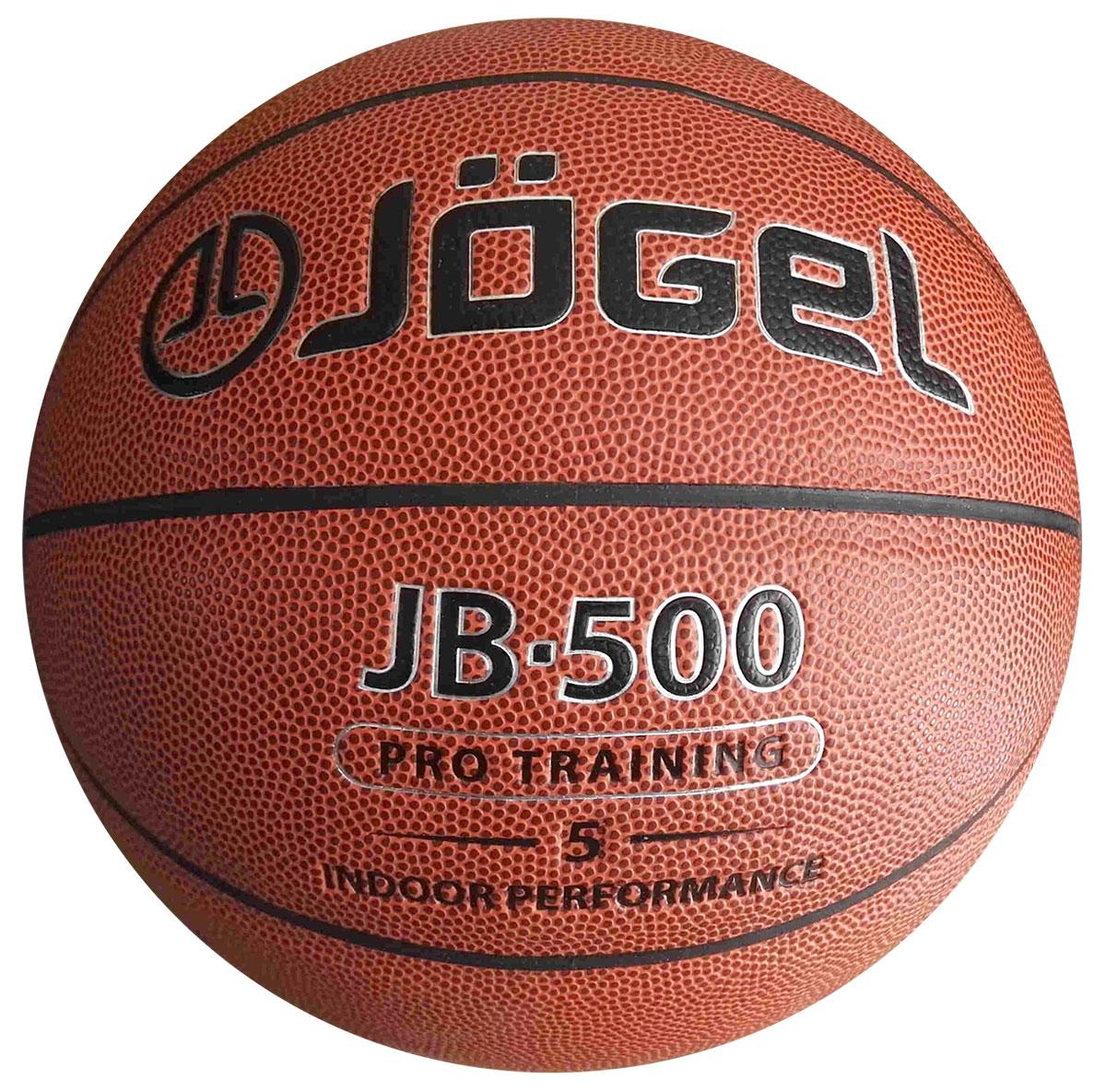 Мяч баскетбольный  Jogel , цвет: коричневый. Размер 5. JB-500 - Баскетбол