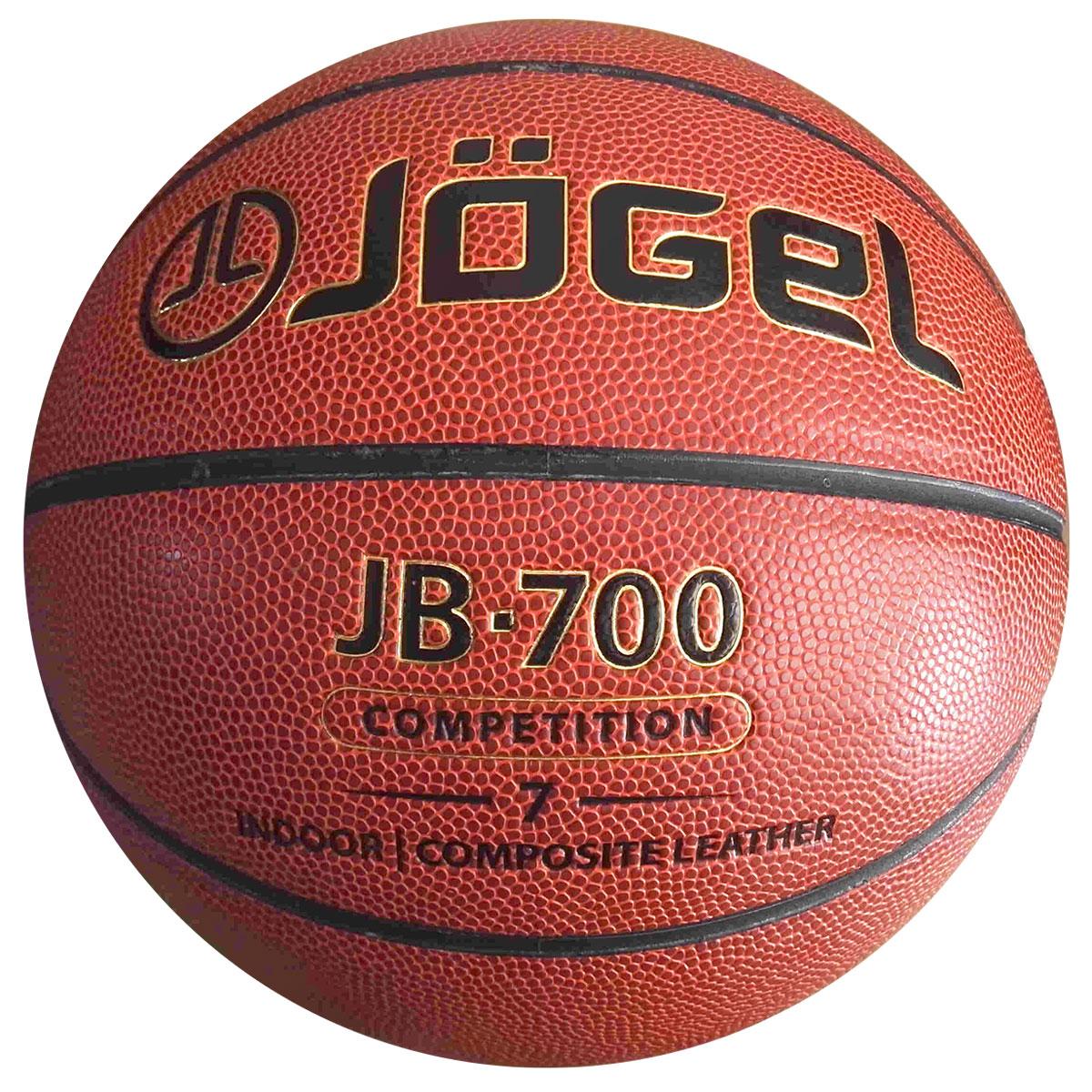 Мяч баскетбольный  Jogel , цвет: коричневый. Размер 7. JB-700 - Баскетбол