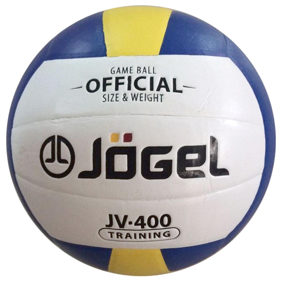 Мяч волейбольный Jogel, цвет: синий, желтый. Размер 5. JV-400УТ-00009341Клееный волейбольный мяч Jogel отлично подойдет для тренировок как в зале, так и на улице.Покрышка мяча выполнена из технологичного композитного материала на основе поливинилхлорида и специального слоя на основе EVA. Мяч мягкий и приятный на ощупь. Он состоит из 18 склеенных между собой панелей и камеры из бутила, также армирован подкладочным слоем из ткани.Вес: 260-280 гр.Длина окружности: 65-67 см.Рекомендованное давление: 0.29-0.32 бар. УВАЖАЕМЫЕ КЛИЕНТЫ!Обращаем ваше внимание на тот факт, что мяч поставляется в сдутом виде. Насос в комплект не входит.