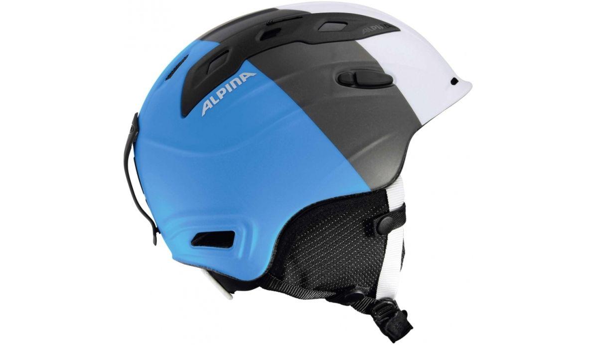 """Шлем зимний Alpina """"Snowmythos"""", цвет: белый, серебряный, синий. Размер 52-56"""