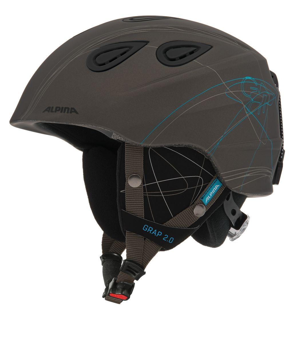 Шлем зимний Alpina Grap 2.0, цвет: серый. Размер 54-57. 9085_379080_81Шлем сделанный по технологии Inmold, доказавший свою надежность более ста тысяч раз в различных испытаниях. Непревзойденное соотношение цена-качество. Доступно девять дизайнерских решений.Технологии:INMOLD TEC – технология соединения внутренней и внешней части шлема при помощи высокой температуры. Данный метод делает соединение исключительно прочным, а сам шлем легким. Такой метод соединения гораздо надежнее и безопаснее обычного склеивания.CERAMIC – особая технология производства внешней оболочки шлема. Используются легковесные материалы экстремально прочные и устойчивые к царапинам. Возможно использование при сильном УФ изучении, так же поверхность имеет антистатическое покрытие.EDGE PROTECT – усиленная нижняя часть шлема, выполненная по технологии Inmold. Дополнительная защита при боковых ударах. RUN SYSTEM – простая система настройки шлема, позволяющая добиться надежной фиксации.AIRSTREAM CONTROL – регулируемые воздушные клапана для полного контроля внутренней вентиляции. REMOVABLE EARPADS - съемные амбушюры добавляют чувства свободы во время катания в теплую погоду, не в ущерб безопасности. При падении температуры, амбушюры легко устанавливаются обратно на шлем.CHANGEABLE INTERIOR – съемная внутренняя часть. Допускается стирка в теплой мыльной воде.NECKWARMER – дополнительное утепление шеи. Изготовлено из мягкого флиса.