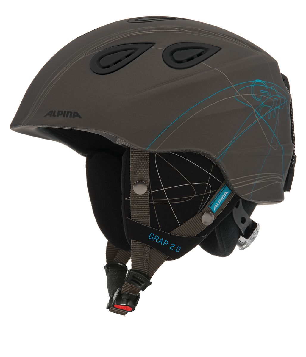 """Шлем зимний Alpina """"Grap 2.0"""", цвет: серый. Размер 57-61. 9085_37"""