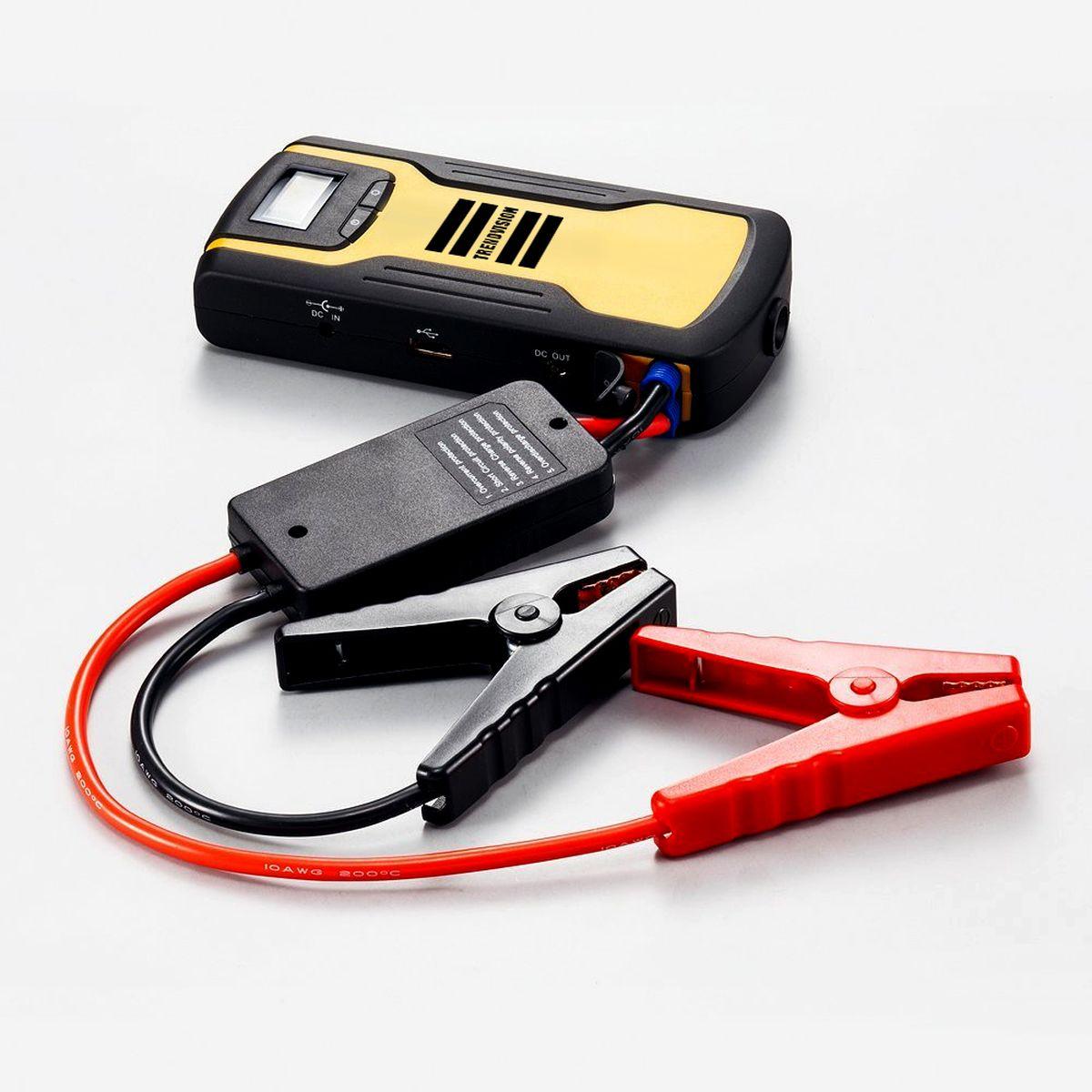 Пуско-зарядное устройство TrendVision Start 11000 Compressor, многофункциональноеO00000960Устройство позволяет запустить двигатель автомобиля, когда штатный аккумулятор не может с этим справиться. Также TrendVision Start 11000 Compressor зарядит Ваш планшет, смартфон, фото и видео аппаратуру. В комплекте автомобильный компрессор.