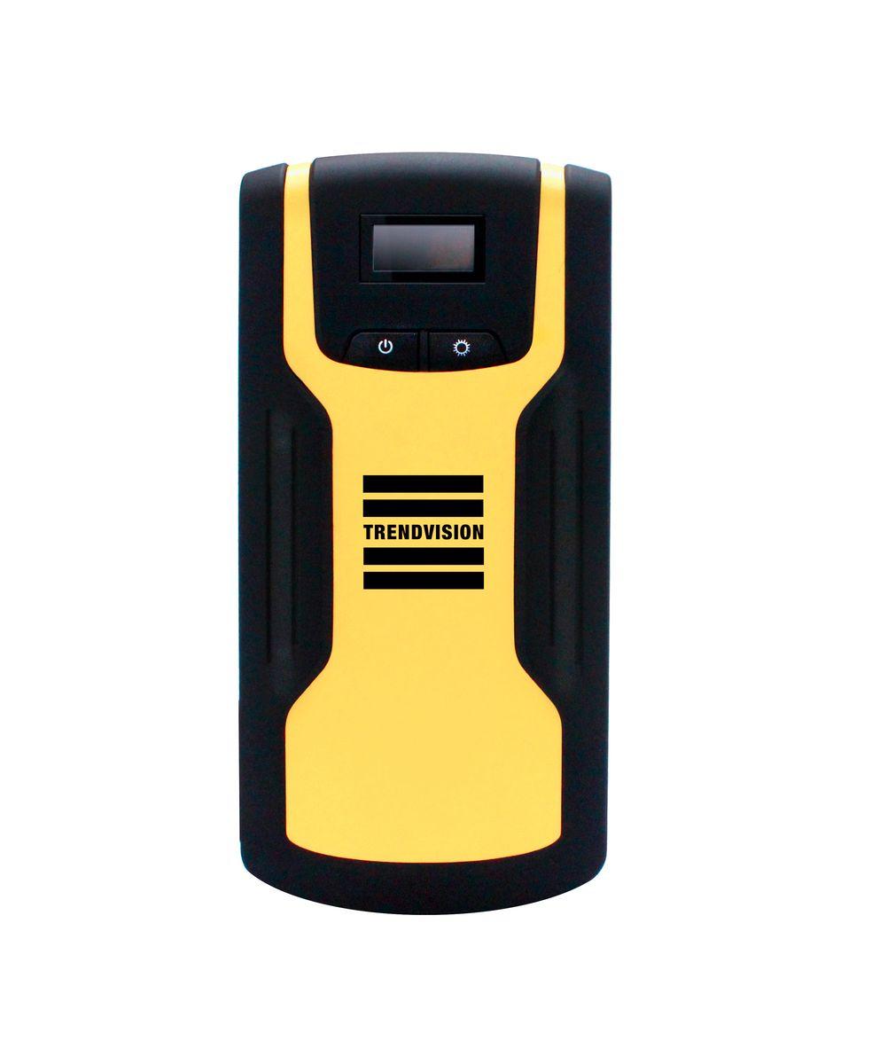 Пуско-зарядное устройство TrendVision Start 18000 Compressor, многофункциональное2012506200400Устройство позволяет запустить двигатель автомобиля, когда штатный аккумулятор не может с этим справиться. Также TrendVision Start 18000 Compressor зарядит Ваш планшет, смартфон, фото и видео аппаратуру. В комплекте автомобильный компрессор.