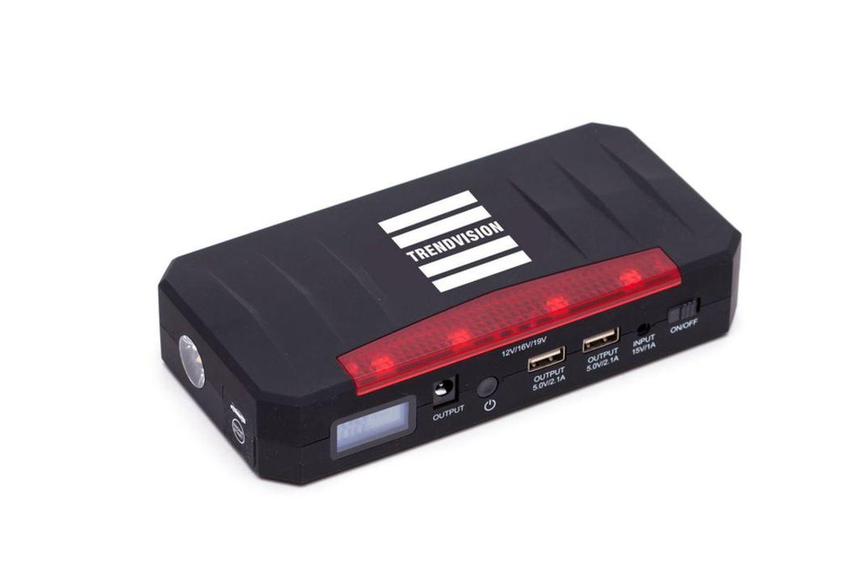 Пуско-зарядное устройство TrendVision Ultimate 18000, многофункциональноеH00001344Устройство позволяет запустить двигатель автомобиля, когда штатный аккумулятор не может с этим справиться. Также TrendVision Start 18000 Compressor зарядит Ваш планшет, смартфон, фото и видео аппаратуру. В комплекте автомобильный компрессор.