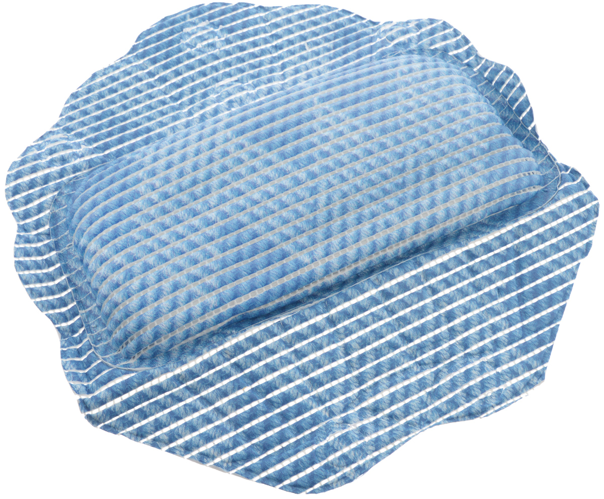 Подушка для ванны Fresh Code Flexy, на присосках, цвет: синий, 33 х 33 см9707Подушка для ванны Fresh Code Flexy обеспечивает комфорт во время принятия ванны. Крепится на поверхность ванной с помощью присосок. Выполнена из ПВХ.